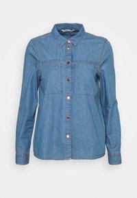 ONLFENJA - Button-down blouse - medium blue denim