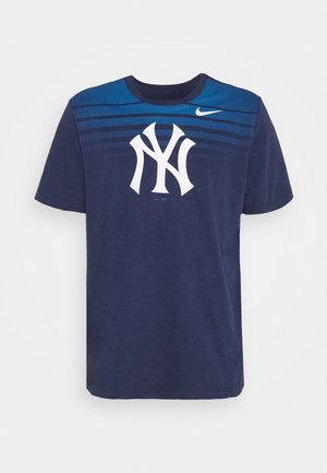 MLB NEW YORK YANKEES STRIPE TEE - Club wear - midnight navy