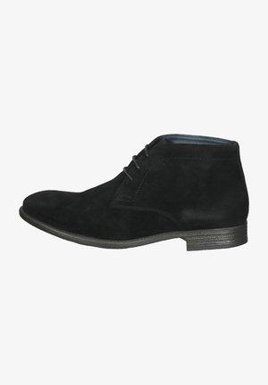Snørestøvletter - black suede