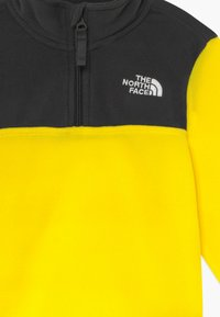 The North Face - YOUTH GLACIER BLOCKED 1/4 ZIP  - Sweat polaire - lemon - 3