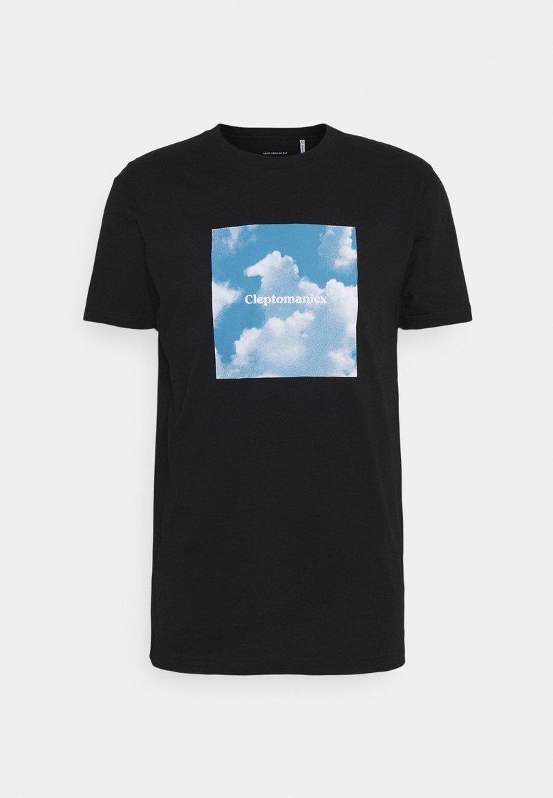 Cleptomanicx - CLOUD GULL - Print T-shirt - black