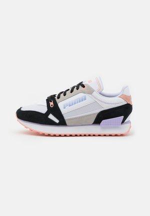 MILE RIDER POWER PLAY - Sneaker low - white/black/apricot blush