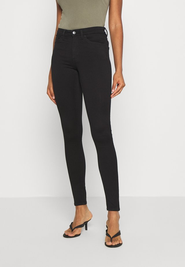 DELUXE - Jeansy Skinny Fit - black dark quick rinse