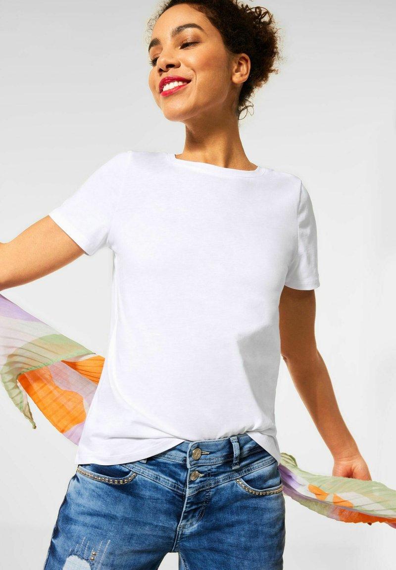Street One - Basic T-shirt - weiß