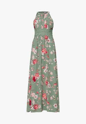 VIMILINA FLOWER DRESS - Maxikleid - green milieu