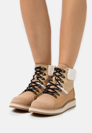 MESA - Lace-up ankle boots - tan
