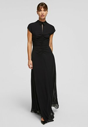 GATHERING - Maxi dress - black