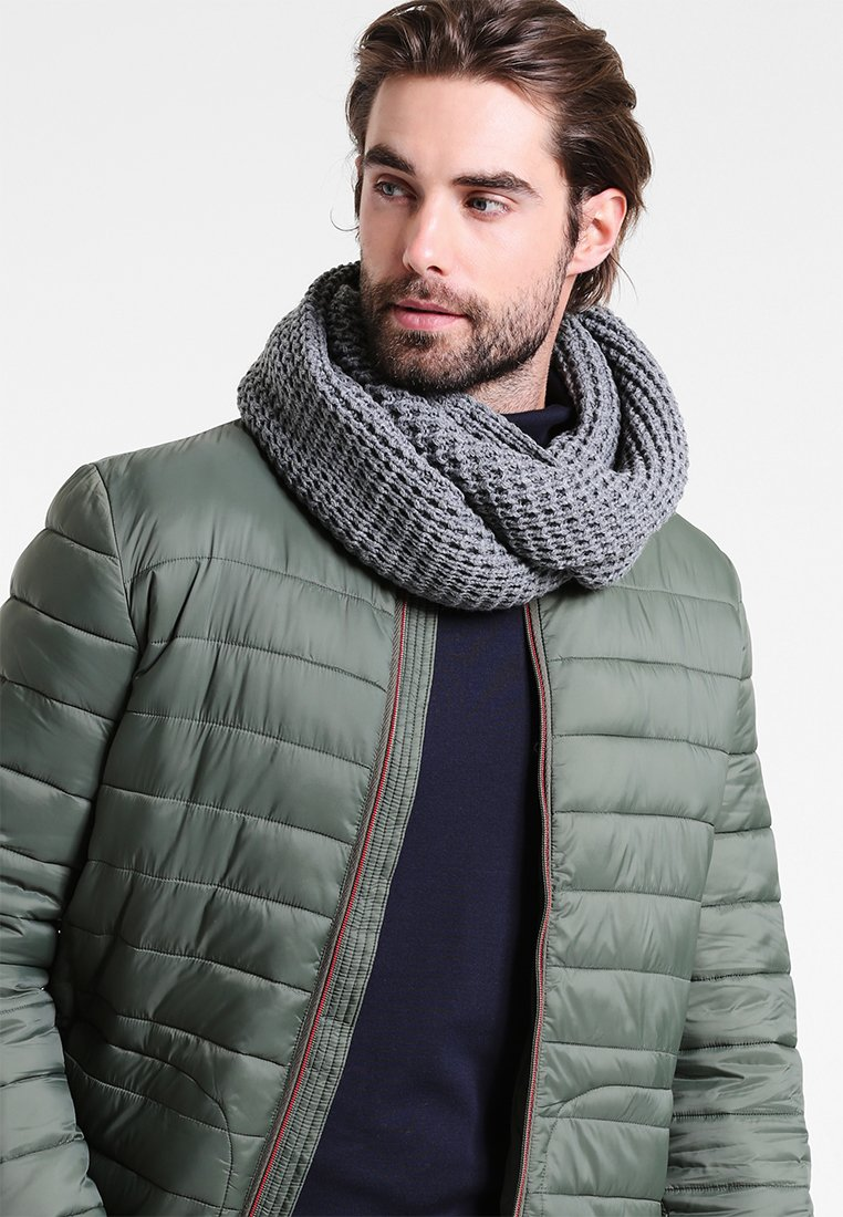 Jack & Jones - JACWAFFLE TUBE - Sjaal - grey melange