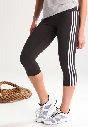 3/4 sports trousers - black/white