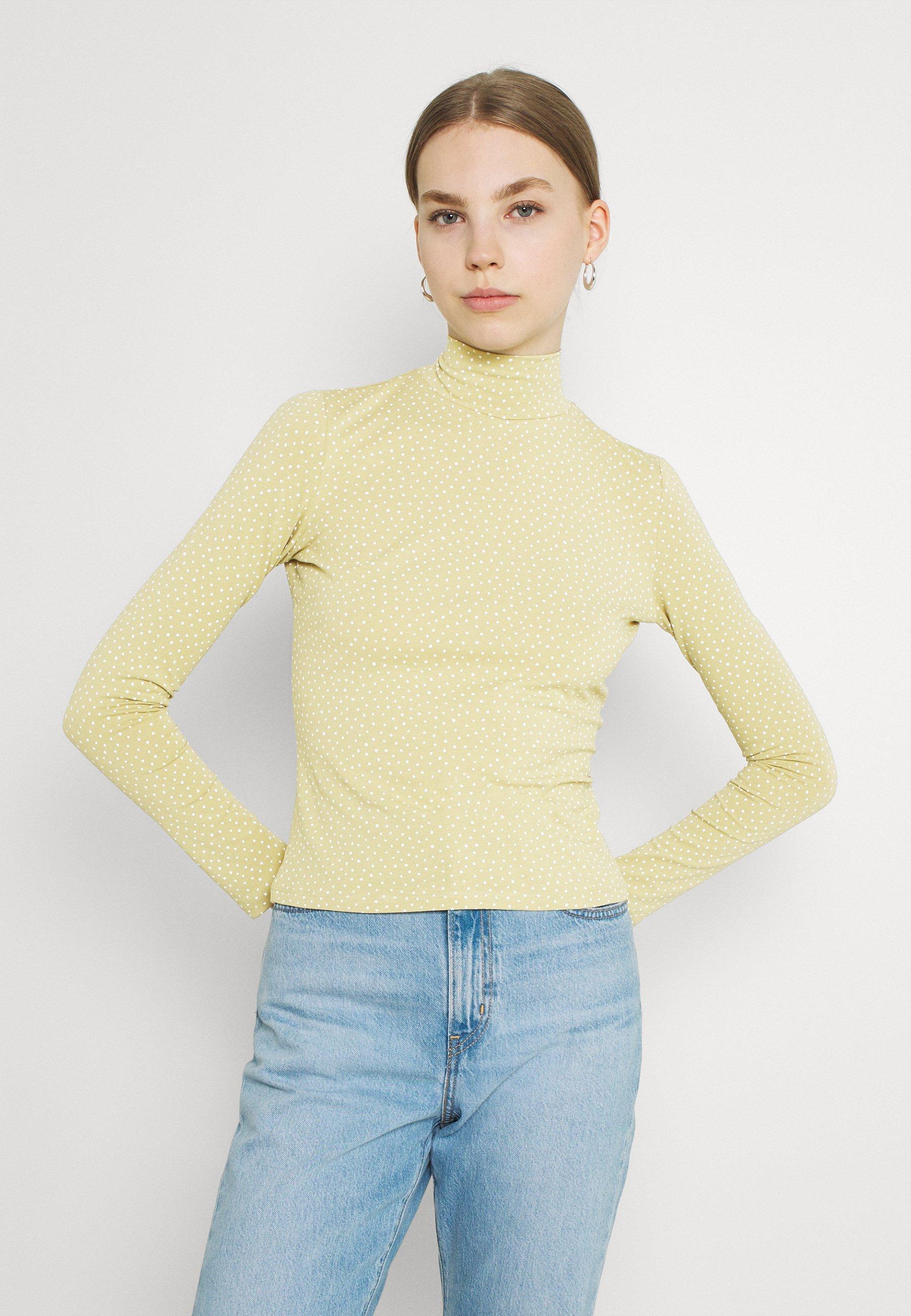 Women Long sleeved top - green