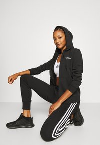 adidas Performance - Zip-up hoodie - black/white - 3