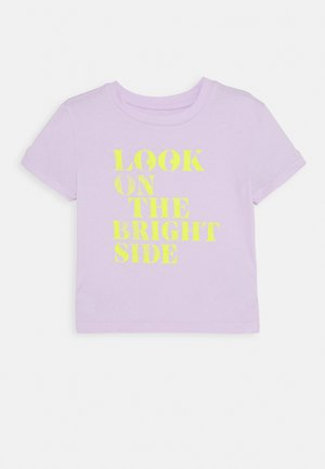 GIRLS BOXY - Print T-shirt - pale lilac
