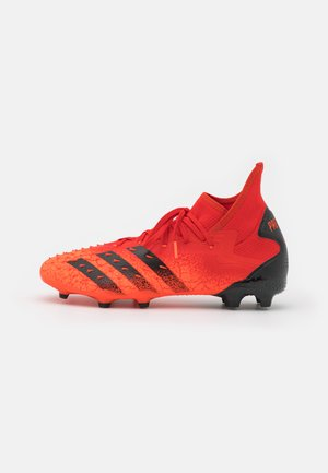 PREDATOR FREAK .2 FG - Moulded stud football boots - red/core black/solar red