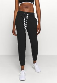 DKNY - TWO TONE JOGGER - Tracksuit bottoms - black - 0