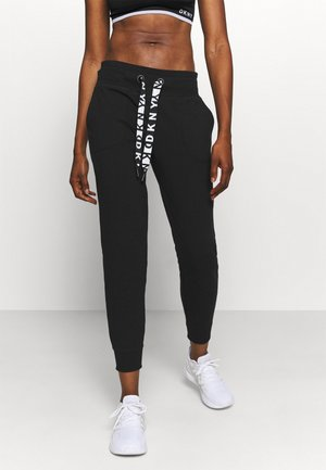 TWO TONE JOGGER - Trainingsbroek - black