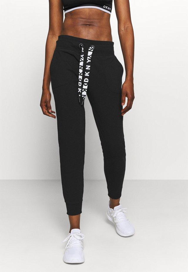 TWO TONE JOGGER - Pantaloni sportivi - black