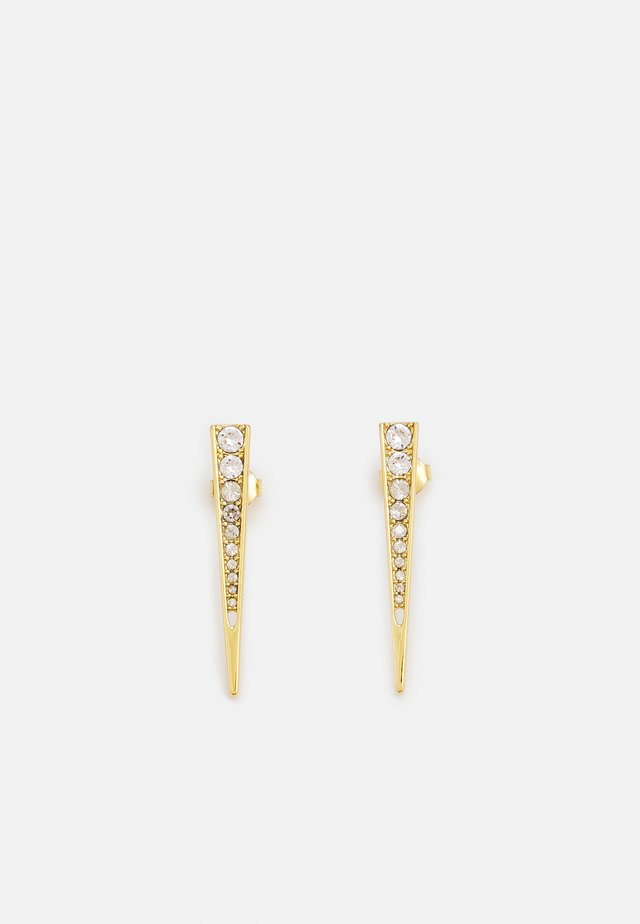 PAVE DAGGER STUD EARRINGS - Ohrringe - gold-coloured