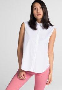 Eterna - PREMIUM - Button-down blouse - white - 0