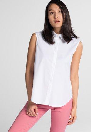 PREMIUM - Button-down blouse - white