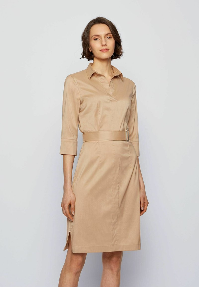 BOSS - DALIRI1 - Shirt dress - beige