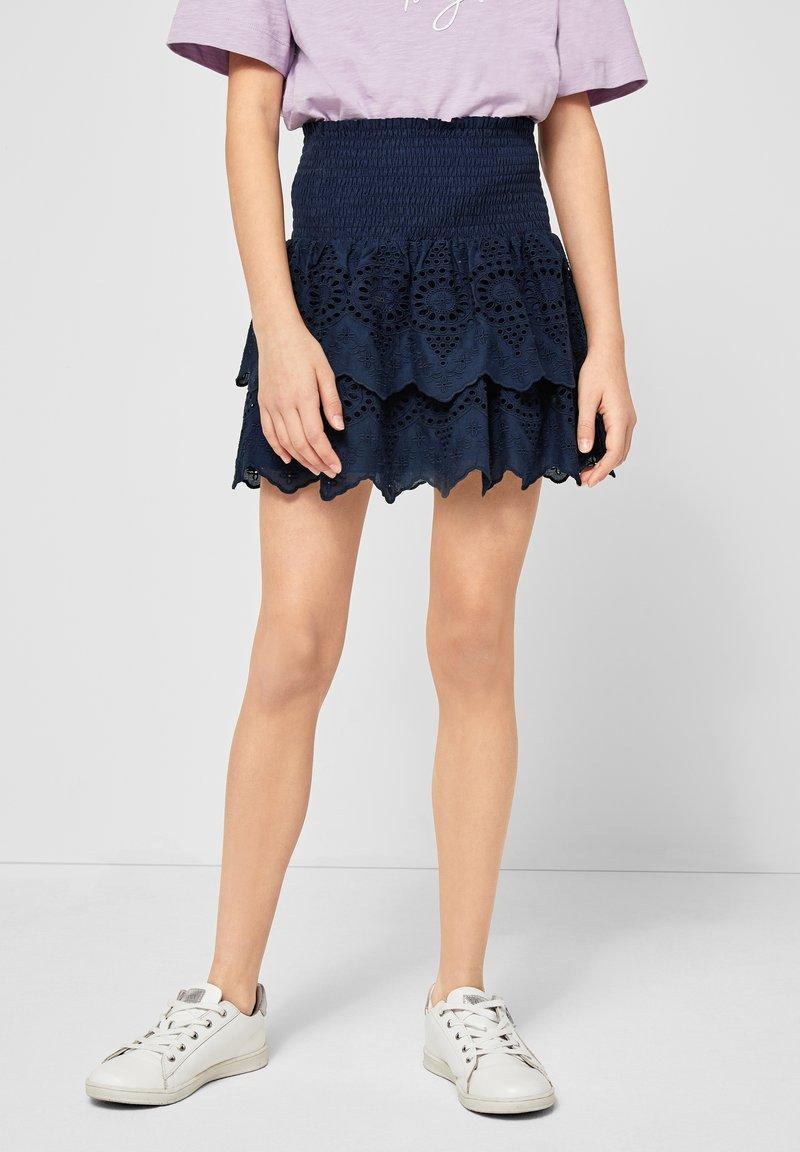 s.Oliver - Mini skirt - blue