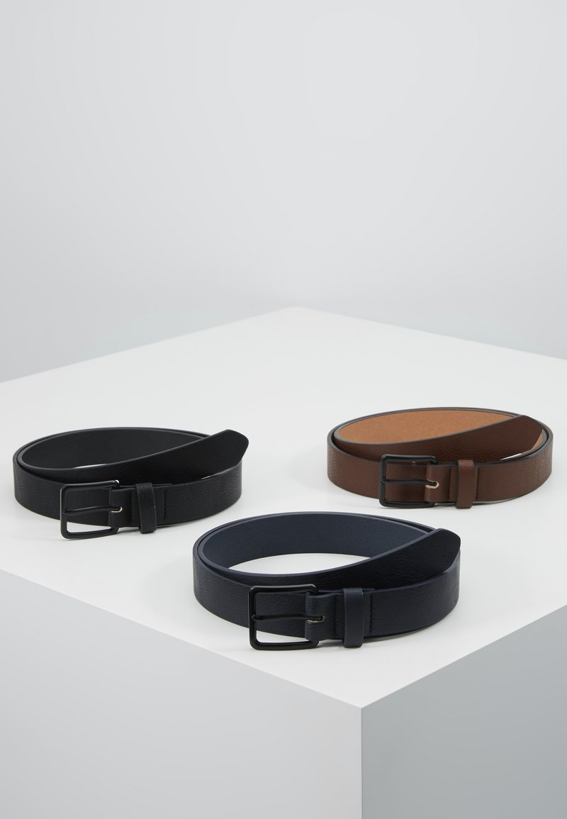 Pier One - 3 PACK - Belt - dark blue/black/brown