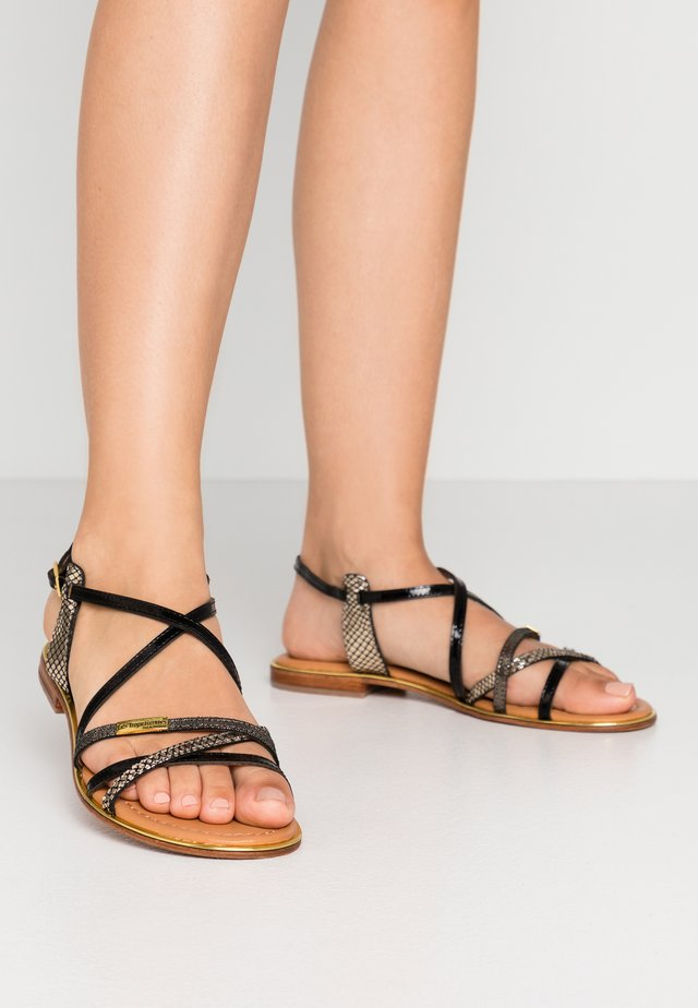 HARRY - Sandals - noir/multiolor