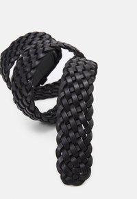 Marc O'Polo - RUNJA - Braided belt - black - 2