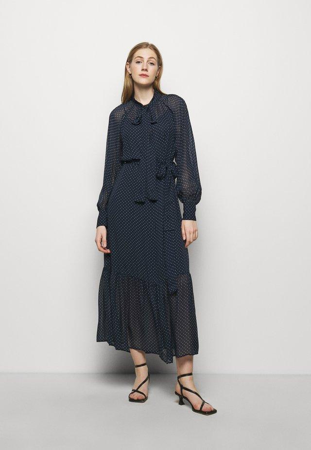 PERFECTION DOTS DRESS - Robe longue - dark blue