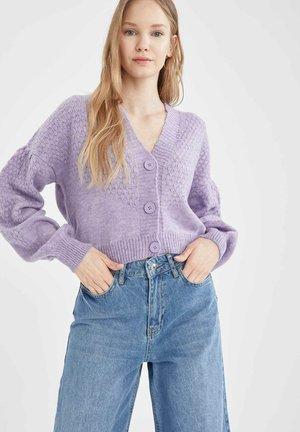 CROPPED FIT  - Cardigan - purple