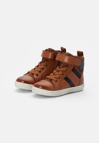 Friboo - LEATHER BOOTIES - High-top trainers - cognac - 1