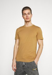 Pier One - 5 PACK - T-shirt basic - brown/white/black - 1