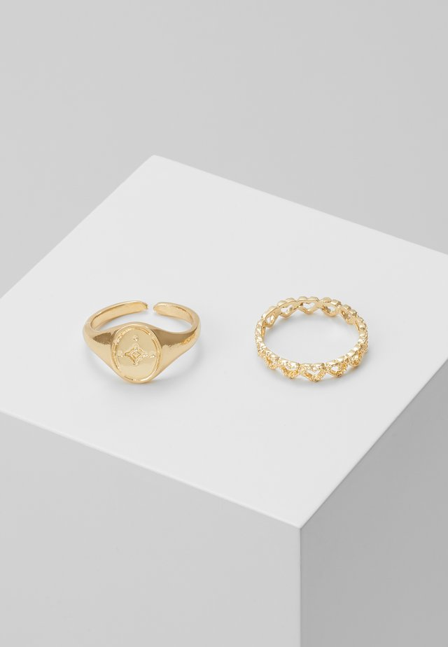 PCHEART 2 PACK - Ring - gold-coloured