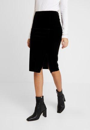 VINCI SKIRT - Pouzdrová sukně - black
