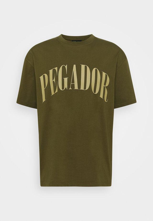 CALI TEE UNISEX - Print T-shirt - washed cactus