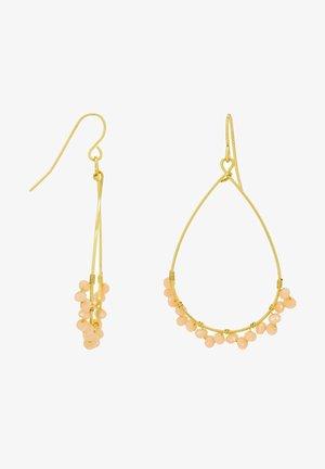 Earrings - beige