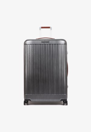 Wheeled suitcase - black-tobacco