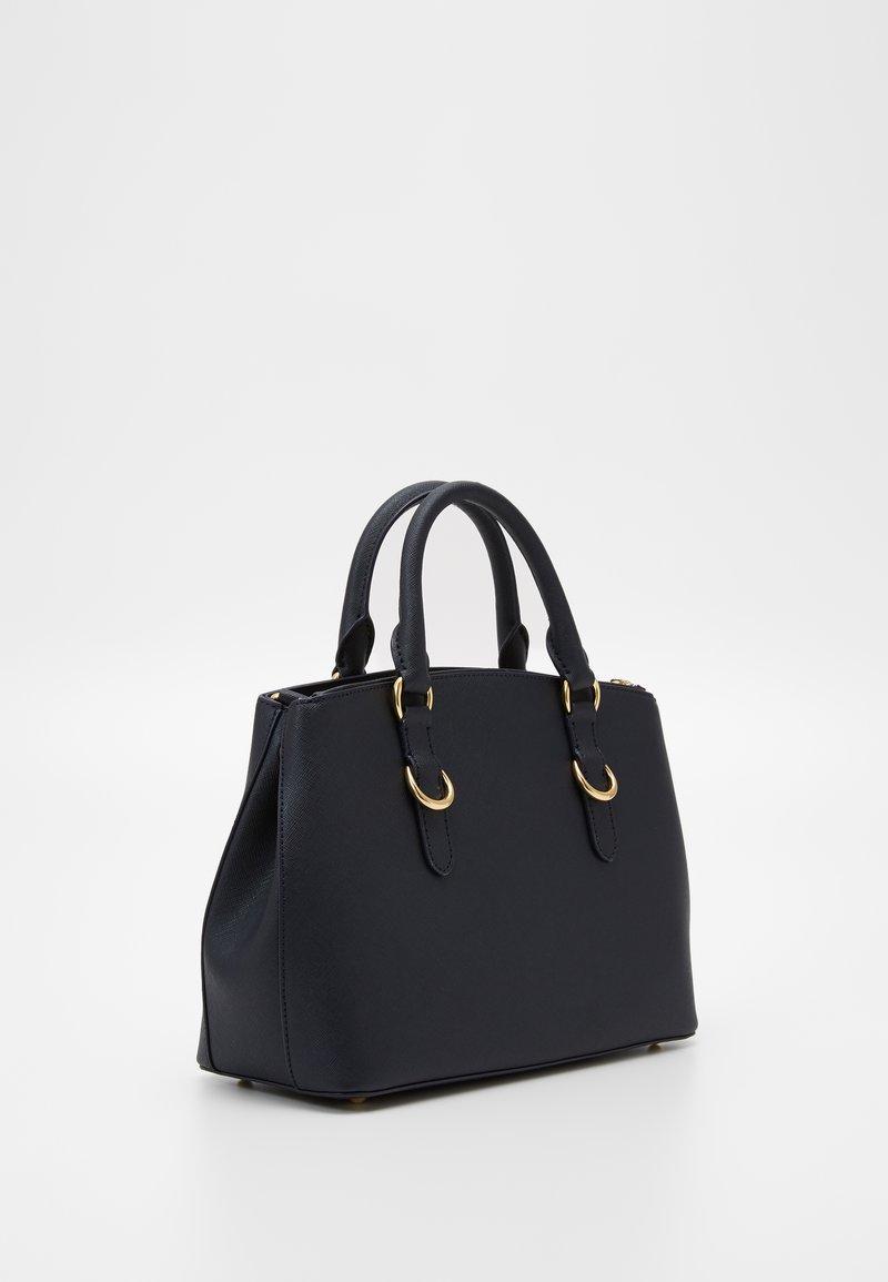 Lauren Ralph Lauren - MINI ZIP SATCHEL - Handbag - navy