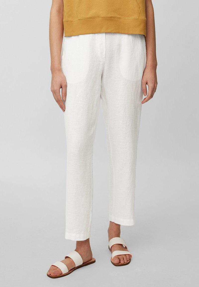 Marc O'Polo - Trousers - white linen