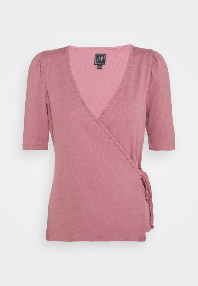WRAP  - T-shirt con stampa - wispy mauve