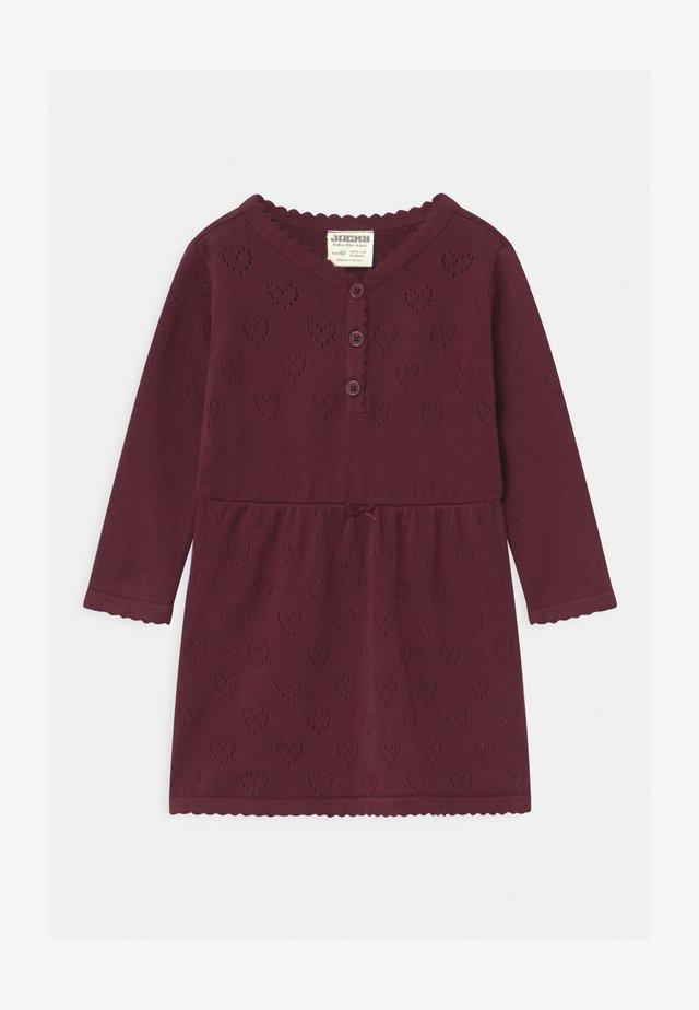 CLASSIC GIRLS - Gebreide jurk - waldfrucht