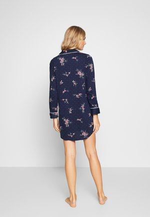 CLASSIC NOTCH COLLAR SLEEPSHIRT - Nightie - navy