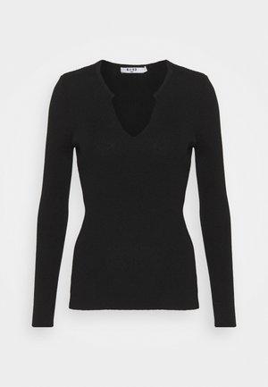 V DETAIL - Pullover - black