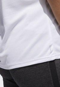 adidas Performance - RUNNING 3-STRIPES T-SHIRT - Print T-shirt - white - 3