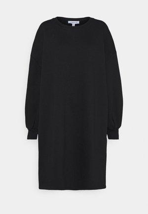 PUFF SLEEVE DRESS - Day dress - black