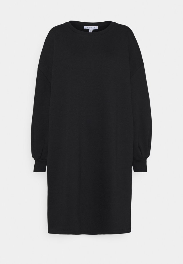 PUFF SLEEVE DRESS - Denní šaty - black