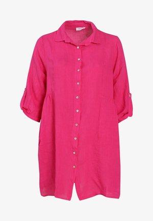 Button-down blouse - fushia