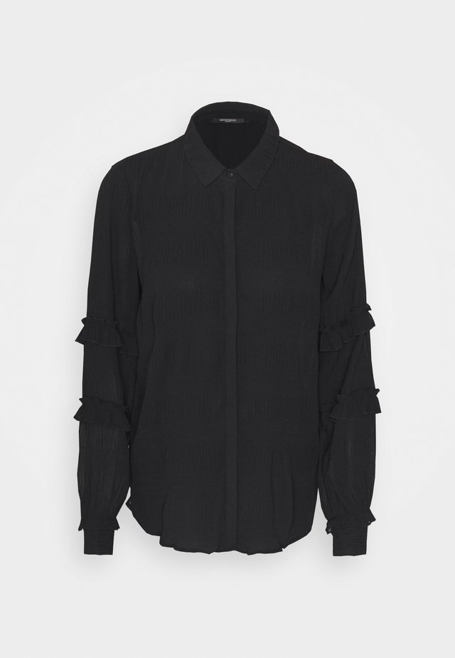 JUSTINA BOLETTA - Button-down blouse - black