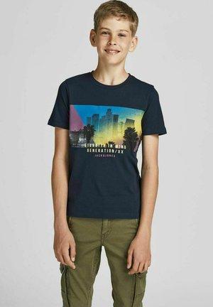 JJURBAN CITY TEE CREW NECK - T-shirt med print - navy blazer
