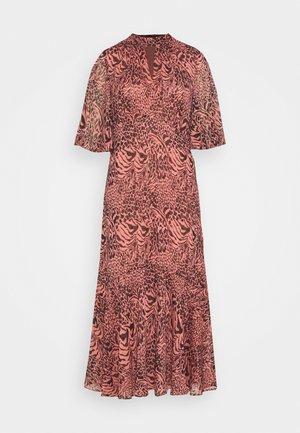 DESERT ZEBRA PRINTED MIDI DRESS - Day dress - pink/multi